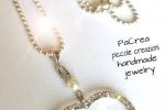 Collana con perla e cuore in strass
