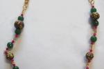 Collana con perle etniche in fimo