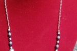 Collana con perle Swarovski e cristalli Swarovski da 4 mm