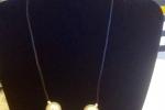 Collana cordoncino nero  e perle