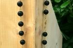 Collana di onice nero opaco