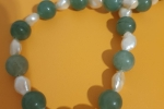 Collana di Perle e Giada Verde