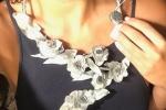 Collana di seta tecnica Flambè