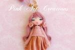 Collana doll fimo rosa