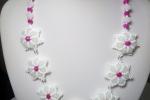 Collana double flower fatta a mano in acciaio inossidabile