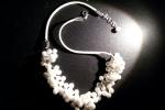 Collana imperlata con perle bianche da 4 mm