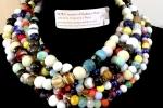 Collana in ceramiche greche e cristalli