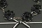 Collana in Chiacchierino color nero laminato argento