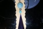 Collana in resina, ciondolo di colore blu notte ♥️.