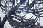 Collana in resina, piuma nera con sfere viola ✨♥️.