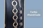 Collana Legno 2 colori composta da fili catena d'alluminio