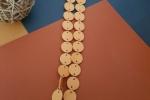 Collana Lunga cartoncino Giallo con anellini colore Argento