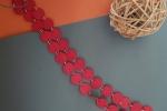Collana Lunga cartoncino Rosso scuro con anellini colore