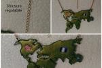 Collana Mappa del Mondo in resina oro e bronzo