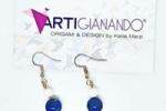 Collana perle blu e bianche pezzo unico