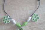 Collana quilling verde
