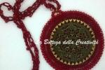 Collana rosone realizzata ad uncinetto