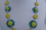 Collana spring bloom fatta a mano con minuteria in acciaio