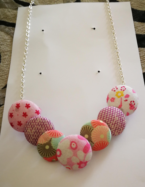 comprare a buon mercato ultimo molti stili Creazioni - Tessuto - Collana con bottoni rivestiti