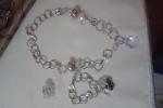 Completo collana bracciale e anello cristallo swarovski