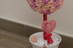 Composizione vasetto albero di rose