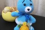 Coniglietto azzurro amigurumi