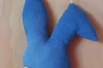 Coniglietto da appendere di stoffa