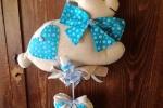 Coniglietto nascita azzurro