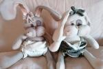 Coniglio pannolino pupazzo rabbit nascita
