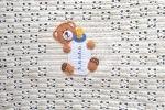 Copertina baby fatta all'uncinetto con orsetto