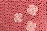 Copertina bimba uncinetto color rosa intenso