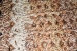 Copertina cotone misura 70x80 lavorazione uncinetto