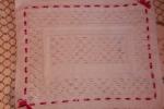 Copertina culla o carrozzina in lana bianca
