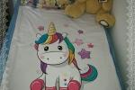 Copertina lettino/passeggino con unicorno