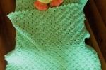 Copertina per culla verde mela