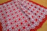 Copertina realizzata in cotone bianco