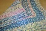 Copertina per baby in lana multicolor
