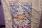 Copertina lettino, decorata con volantini in voile
