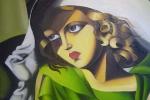 """Copia di """"La ragazza in verde"""" di Tamara de Lempicka"""