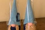 Coppia di gnomi realizzati a mano in pannolenci