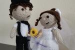 Coppia di sposi amogurumi