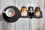 Coppia di tovagliette colazione feltro a forma di chiave