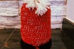 Copri bottiglia natalizio lavorato all'uncinetto