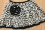Copri spalle uncinetto elegante colore grigio