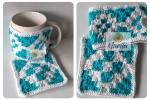 Copri tazza + sotto tazza Mosaico