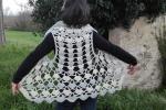 Coprispalle/gilet uncinetto in misto lana