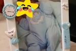 Cornice nascita 13x18 decorata a mano in fimo