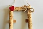 Cornice Wine Cork creata con tappi di sughero