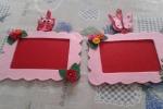 Cornici per foto in feltro rosa
