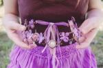 Coroncina elfica con violette